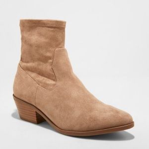 Shoes - BRAND NEW size 11  Microsuede Western Sock Booties